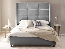 Cushioned Headboards For Beds Amazing Tall Upholstered Headboards 17 For Your Best Interior