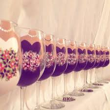 wedding gift glasses 82 best painted wine glass wedding bridal images on