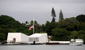 Fly Flag At Half Mast File Us Navy 091207 N 7498l 563 The Ensign Above The Uss Arizona