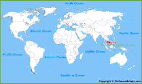 brunei map in world brunei location on the world map