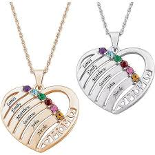 personalized necklace images Personalized mother birthstone name heart necklace 20 jpeg