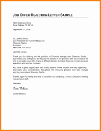 Job Termination Notice by 4 Declining A Job Offer Sample Letters Mail Clerked