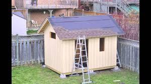 diy backyard garden shed youtube