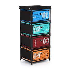 Storage Furniture Storage Of Chest Shelf Fabric 4 Drawer Shelf Folding Storage