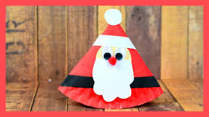 rocking santa paper plate craft cute christmas crafts for kids