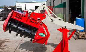 bull hog fmx excavator mulching attachment fecon