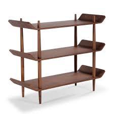 sean dix leaf bookshelf walnut small modern bookshelves for
