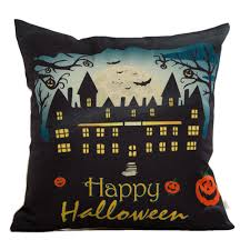 outdoor halloween pillows amazon com hosl pw01 4 pack happy halloween square decorative