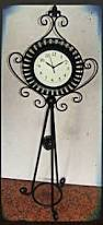 wholesale home decor antique vintage metal floor standing clock