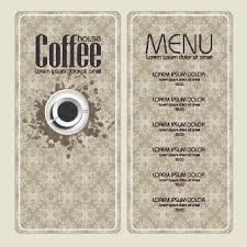 free coffee shop menu design and layout templates to download
