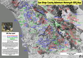 Gps Map San Diego County Adventure Motorcycle Gps Map Gpskevin Adventure