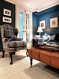 Dark Blue Living Room by Dark Blue Living Room Ideas Comfy White Rattan Armchair Brown