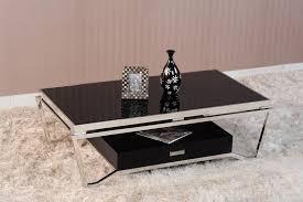 Stainless Steel Sofa Table Glass And Metal Coffee Tables Homesfeed