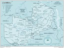 Zambia Africa Map by Large Detailed Political Map Of Zambia With All Cities And Roads