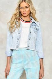 the edge of glory cropped denim jacket shop clothes at nasty gal
