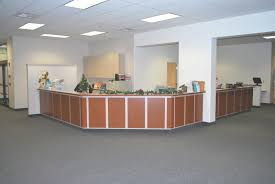Reception Counter Desk by Dreamworks Cabinetry Llc Custom Commercial Casework Cabinetry