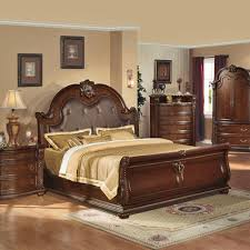 anondale brown cherry sleigh bedroom set home decor bedrooms