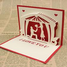 pop up wedding invitations 3d handmade card for wedding invitations figure kirigami origami