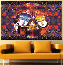 imperialwallart777 100 artwork exclusive radha krishna deity wall artwork exclusive radha krishna deity wall decal print poster easy to peel and stick wall art self adhesive vinyl sticker waterproof wallpaper art mural