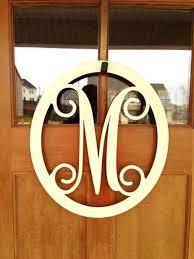 explore monogram door hangers wreath wood front mat outdoor