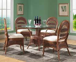 Wicker Dining Room Chairs Indoor Jofran 733 52 Urban Lodge 6 Piece Round Dining Room Set W Hammary