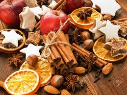 christmas nuts christmas spices cookies nuts and fruits shallow dof stock photo