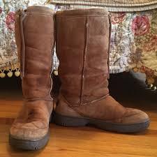 ugg boots sale genuine 84 ugg boots genuine ugg brown drawstring sheepskin boots