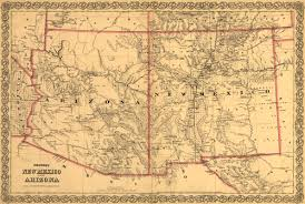 map of az historic railroad map of arizona and new mexico 1873