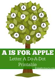printable letter a do a dot from abcs to acts