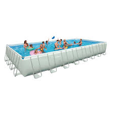 Intex Pool 14x42 Intex 10 Feet X 30 Inches Prism Frame Above Ground Swimming Pool