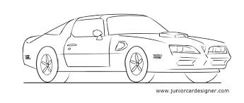 sports car drawing how to draw a muscle car pontiac firbird junior car designer