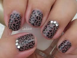 nail art basic cheetah print diseño de uñas estampado de