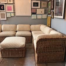 Vintage Sectional Sofa Vintage Rattan Sectional Sofa Set Good Eye Gallery