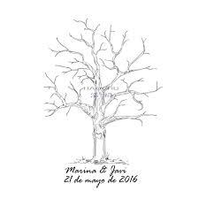 baby shower tree gift inkpad tree mariage signature wedding fingerprint tree