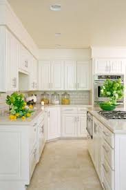 what color cabinets with beige tile kitchen with travertine floor design ideas