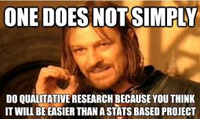 Meme One Does Not Simply - one does not simply do qualitative research meme psychmob