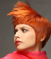 what is a persion hair cut short orange hair styled sleek or with spikes