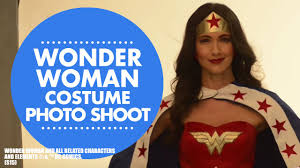 behind the scenes of wonder woman costume photo shoot youtube