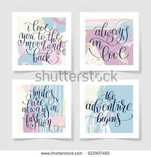 Designs Of Making Greeting Cards For Valentines Set Lettering Quote About Love Collection Stock Vector 523334377