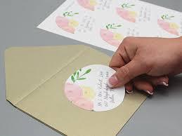 garden bouquet wedding address labels print
