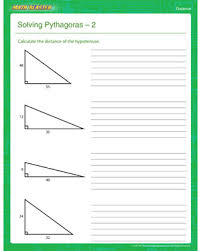 solving pythagoras 2 u2013 free pythagoras theorem worksheet u2013 math
