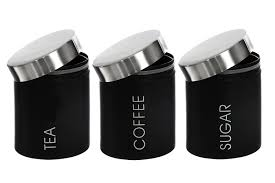 amazon com premier housewares tea coffee and sugar canisters