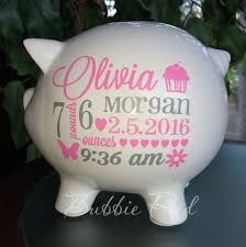 monogrammed piggy bank personalized piggy banks best 25 personalized piggy bank ideas on