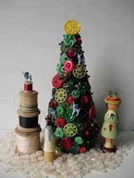 vintage haberdashery christmas trees haberdashery wooden spools