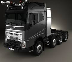 volvo truck tractor volvo fh tractor truck 2012 3d model hum3d