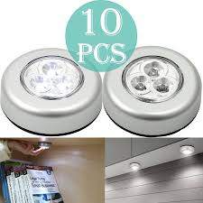 stick on lights for closets proster night light wireless touch light push tap on off 3led light