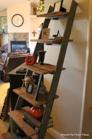 Wooden Ladder Bookcase by Beyond The Picket Fence Ladder Shelf