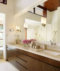 bathroom mirror ideas diy elegant brown teak vanity cabinet beige