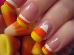 halloween nail art candy corn nails youtube