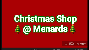 christmas shop menards youtube